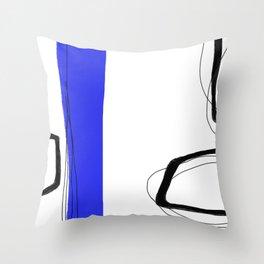 Blocks-Blue Streak  Throw Pillow