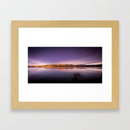 Sunset at Blueskin Bay, New Zealand Framed Art Print