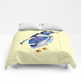 Penguin 2 (Arabic calligraphy) Comforters