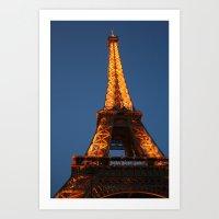 Eiffel Tower 3 Art Print