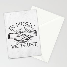 In Music We Trust Stationery Cards