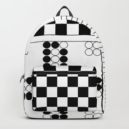Board game fields, play chess , Go, Parcheesi, Nine Man Morris Backpack
