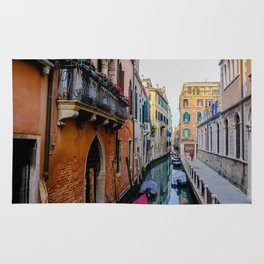 Colorful Venice Italy Canals Rug
