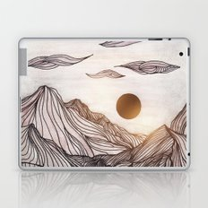 Lines in the mountains Laptop & iPad Skin