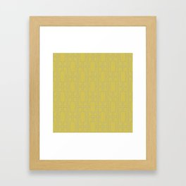 Simply Mid-Century Retro Gray on Mod Yellow Framed Art Print
