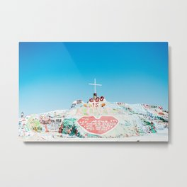 Salvation Mtn. Metal Print
