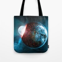 planet Tote Bags featuring Planet by Floyd Triangle