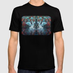 The Song of Swans MEDIUM Black Mens Fitted Tee