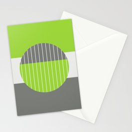 Lime Pastel Geometry Stationery Cards