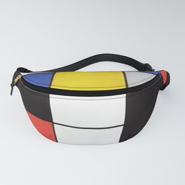 Mondrian's Composition A (High Resolution) Fanny Pack
