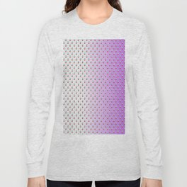 Red Blue Dots with White Purple Ombre Long Sleeve T-shirt
