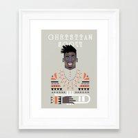 christian schloe Framed Art Prints featuring christian scott by atipo