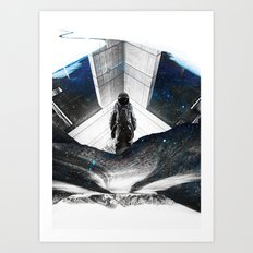 Astronaut Isolation Art Print