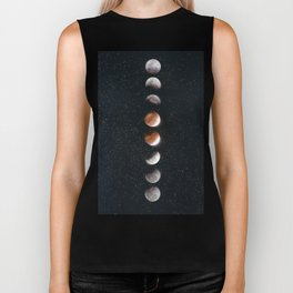 Phases of the Moon II Biker Tank