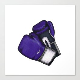 For the love of Boxing // PURPLE & GRAY Canvas Print