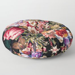 Midnight Garden VII Floor Pillow
