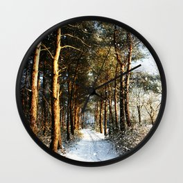 Forest Snow Scene Wall Clock