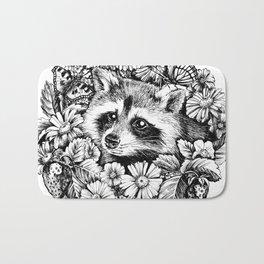 "Summer raccoon. From the series ""Seasons"" Bath Mat"