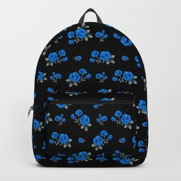 Blue Roses with monochromatic leaves Backpack