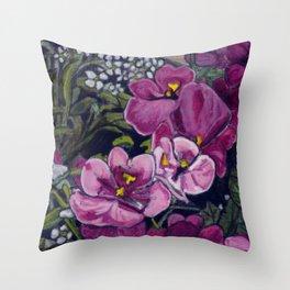 Garden Flowers Throw Pillow