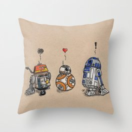 Droids Throw Pillow