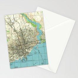Vintage Map of Pensacola Florida (1944) Stationery Cards