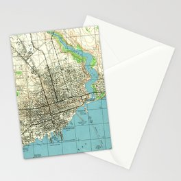 Vintage Map of Pensacola Florida (1944) Stationery Cards