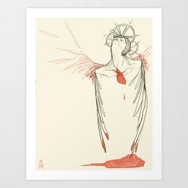 Too Much Heart Art Print