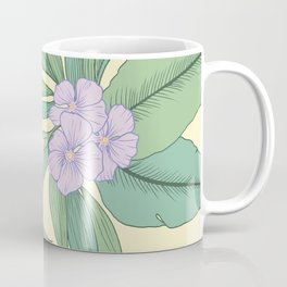 Jungle Daydream Purple Floral Print Coffee Mug
