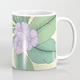 Jungle Daydream Purple Floral Print Coffee Mug