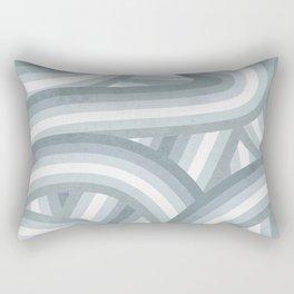 Beachy Blue Stripes Pattern Rectangular Pillow