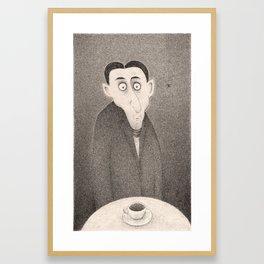 Cafe Kafka (Monochrome)  Framed Art Print