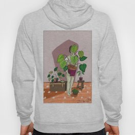 boys with love for plants illustration painting Hoody