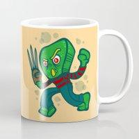 freddy krueger Mugs featuring Gumby Krueger by Artistic Dyslexia