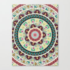 Sloth Yoga Medallion Canvas Print
