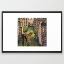 The Last Boy on Earth! Framed Art Print