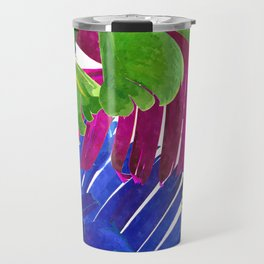 Colorful tropical leaves Travel Mug
