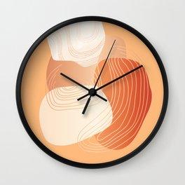 Geometric Desert Wall Clock