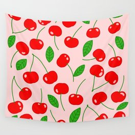 Illustrated Cherry Pattern Wall Tapestry