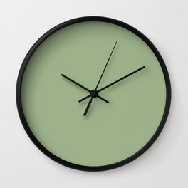 Vintage New England Shaker Village Tavern Green Milk Paint Wall Clock