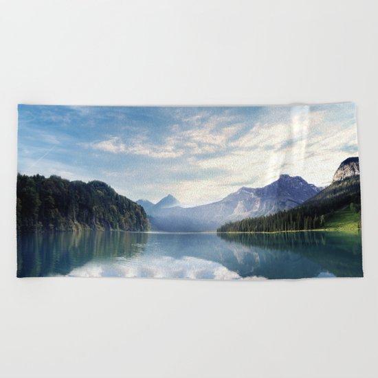 Wanderlust - Mountains, Lake, Forest Beach Towel