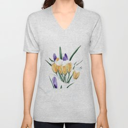 Crocus Unisex V-Neck