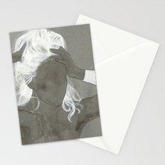 girl with silver trabzon hasırı bracelet Stationery Cards
