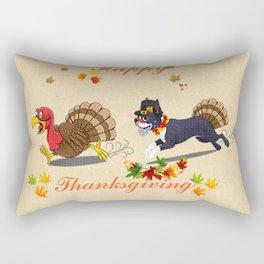 Happy Thanksgiving Boston Terrier Cute Gift Dog Lover Rectangular Pillow