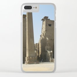Temple of Luxor, no. 1 Clear iPhone Case