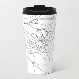 Dahlia Flower  Metal Travel Mug