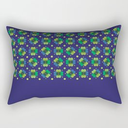 Navy cloverleaf print Rectangular Pillow