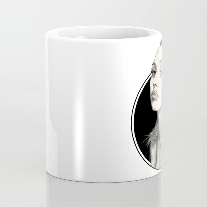 Arina Black Circle Coffee Mug