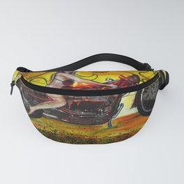 Fast and Fearless Pinup bikini motorcycle girl ver. 2.0 Fanny Pack