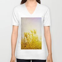 coldplay V-neck T-shirts featuring And it Was All Yellow by Olivia Joy StClaire
